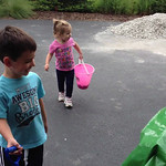 kids just finding out about the new playset Precious lil Emma helping with the gravel too!